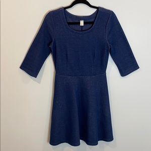Old Navy Quarter Sleeve Faux Denim Stretchy Dress